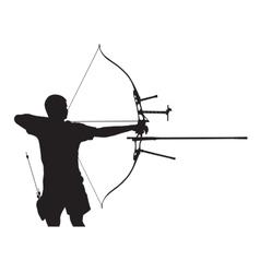 Silhouette archer vector