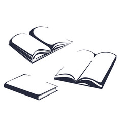 sketches of books vector image