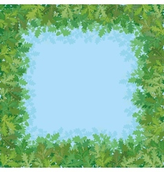 Sky and green leaves vector