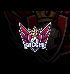 soccer football sport logo design vector image