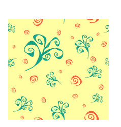 spiral swirl abstract pattern vector image
