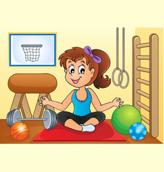 Sport and gym theme image 2 vector