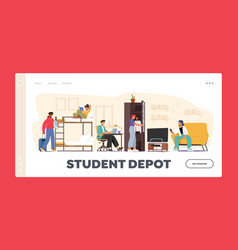 student depot landing page template characters vector image