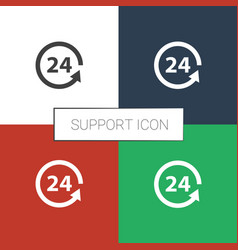 Support icon white background vector