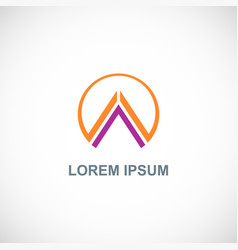 triangle round company logo vector image