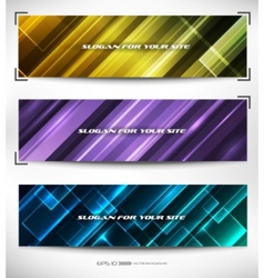 vector abstract web banner vector image