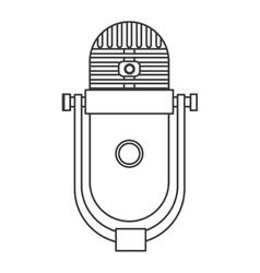 Vintage microphone icon vector