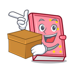 With box diary character cartoon style vector
