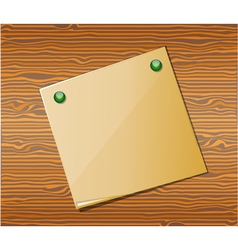 Wood texture with paper vector image