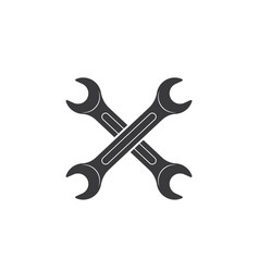 Wrench and icon automotive repair vector