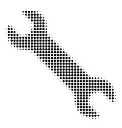 Wrench halftone icon vector