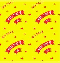 big sale and discounts seamless pattern flat vector image vector image