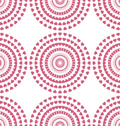 Seamless pattern of swirl pink heart vector image vector image