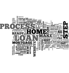 A breakdown of the loan process text word cloud vector