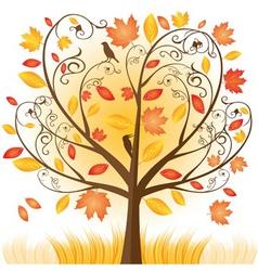beautiful autumn tree vector image vector image