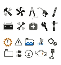 Car mechanic and service icons vector image vector image