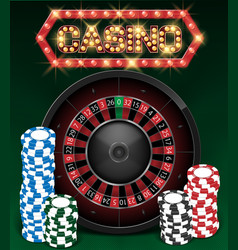 casino gambling background design with realistic vector image