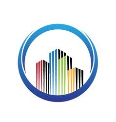 Real estate Skyscrapers logo vector image vector image