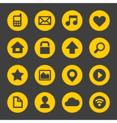 Universal Simple Web Icons Set 1 vector image vector image