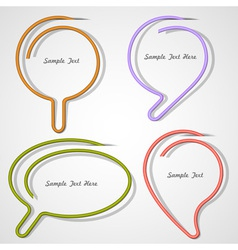 Bubbles speech made of paper clip vector image vector image