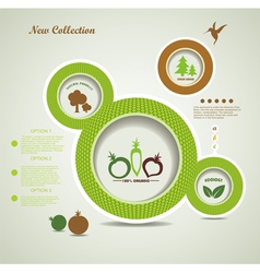 Organic food bubbles vector image