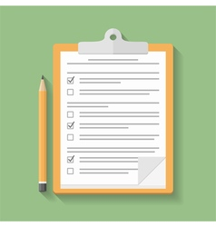 Clipboard with Survey vector image vector image