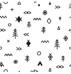 hand drawn seamless pattern with doodle elements vector image vector image