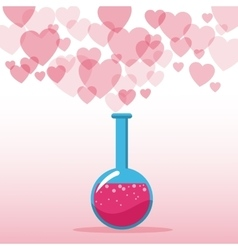 love potion valentines day hearts background vector image
