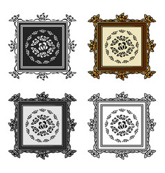 picture icon in cartoon style isolated on white vector image vector image
