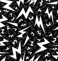 Retro shape seamless pattern in black and white vector image vector image