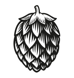 a black and white a hop vector image