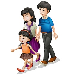 A family walking vector