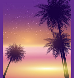 abstract summer natural palm background vector image