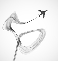 Abstract wave background Airplane concept vector