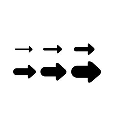 Arrows and directions signs right or next vector