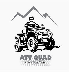 atv quad bike stylized silhouette symbol design vector image