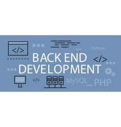 Back end development banner concept vector