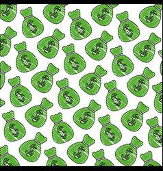 bag money dollar currency bank pattern vector image