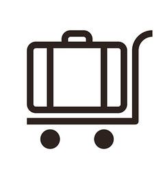 Baggage cart - travel icon vector