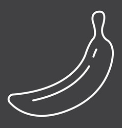 Banana line icon fruit and diet graphics vector