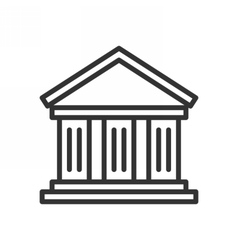 Bank outline icon vector image