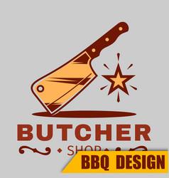 Bbq burcher logo image vector