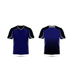 Blue and black layout e-sport t-shirt design vector