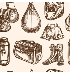 Boxing seamless pattern design vector image