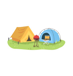 campground semi flat vector image