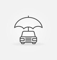 car with umbrella icon vector image