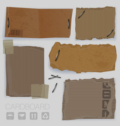 cardboard design elements vector image