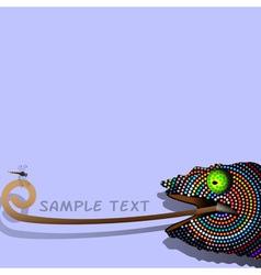 Chameleon 2 vector image