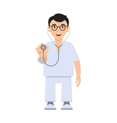 Character doctor with a stethoscope vector image