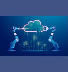 cloudcity vector image